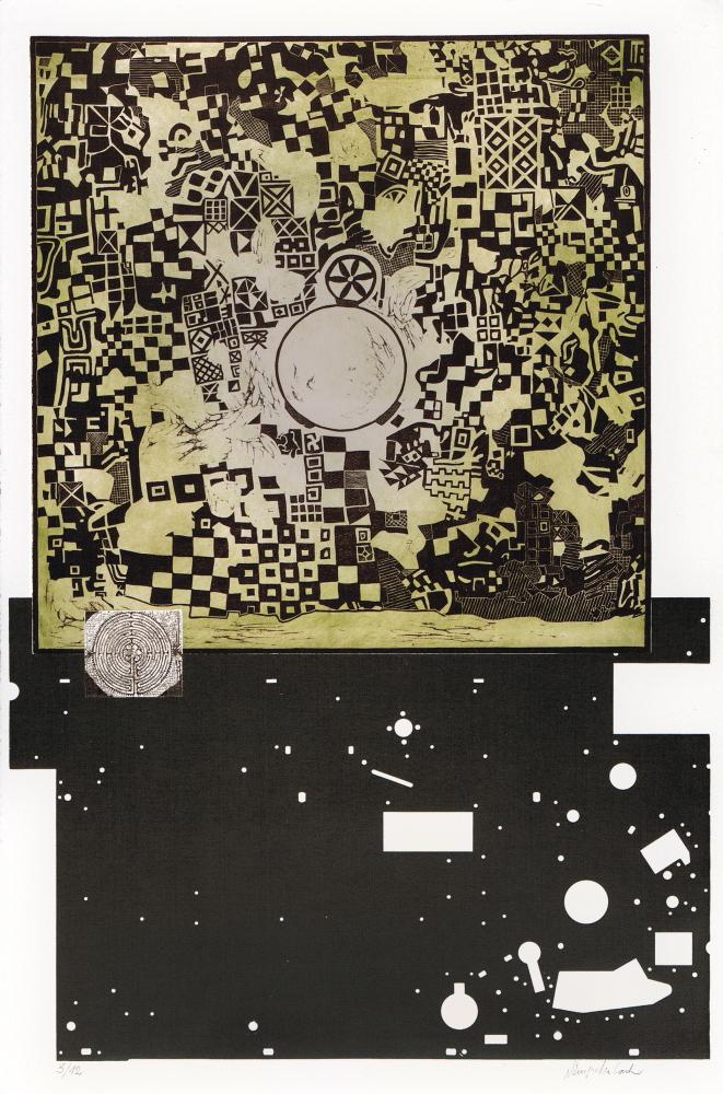 Configurazioni-frattaliche-1994-linoleografia-acquaforte-su-zinco-mm.980x680-foglio-mm.1040x700-1