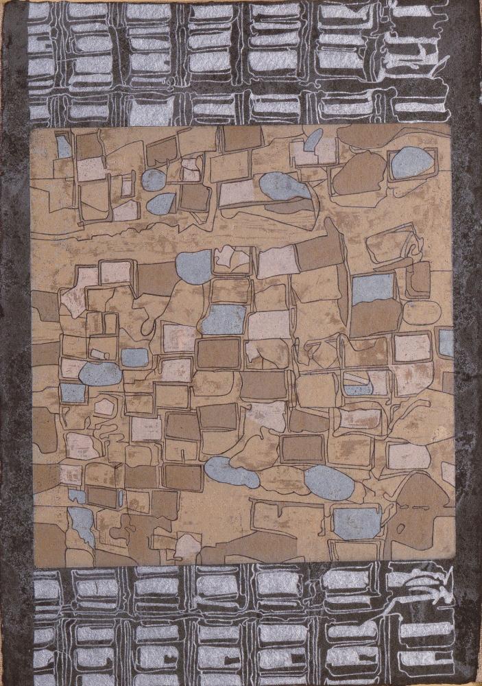 Radiografia-dellurbano-1-xilografia-a-legno-perso-su-carta-a-mano-intelaiata-olio-cm.48x35-2001