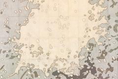Sull'orizzonte degli eventi 1 - collage su tavola cm 169x120,5 - 2017