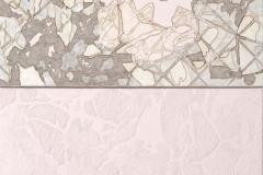Sull'orizzonte degli eventi 4 - collage, acrilico e sabbia su tela - dittico cm 100x70 - 2017